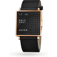 QLOCKTWO 35mm Rose Black Wristwatch