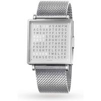 QLOCKTWO 39mm Fine Steel Wristwatch