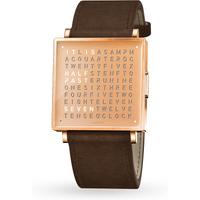 QLOCKTWO 39mm Copper Vintage Brown Wristwatch