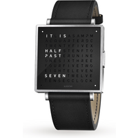 QLOCKTWO 39mm Pure Black Wristwatch