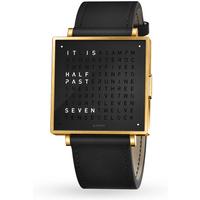 QLOCKTWO 39mm Gold Black Wristwatch