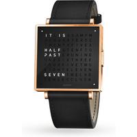 QLOCKTWO 39mm Rose Black Wristwatch