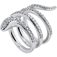 shop for Damiani Eden 18ct White Gold 0.95cttw Diamond Ring - Ring Size N at Shopo