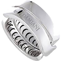 shop for Damiani Baci 18ct White Gold 0.01ct Diamond Ring - Ring Size I at Shopo
