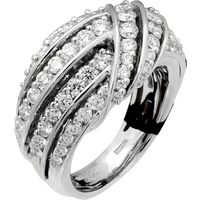 shop for Damiani 18ct White Gold 1.95cttw Diamond Ring - Ring Size O at Shopo