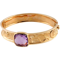 Damiani Exacliber 18ct Rose Gold Diamond and Amethyst Bangle