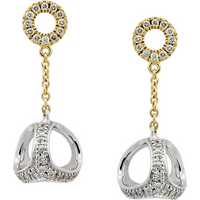 shop for Di Modolo Eterno 18ct Yellow and White Gold 0.66cttw Diamond Drop Earrings at Shopo