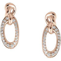 shop for Di Modolo Nodo 18ct Rose Gold 0.15cttw Diamond Pave Earrings at Shopo