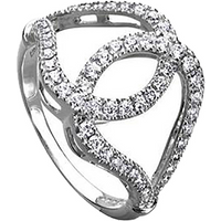 shop for Di Modolo Fiamma 18ct White Gold 0.56cttw Diamond Pave Ring - Ring Size M at Shopo