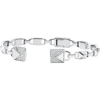 shop for Michael Kors Mercer Link Sterling Silver Open Cuff Size Medium at Shopo