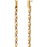 shop for Michael Kors Mercer Link 14ct Gold Plated Linear Earrings at Shopo