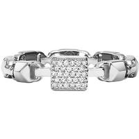 shop for Michael Kors Mercer Link Sterling Silver Stack Ring Size L.5 at Shopo