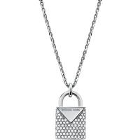 shop for Michael Kors Colour Sterling Silver Padlock Pendant at Shopo