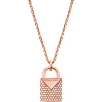 shop for Michael Kors Colour 14ct Rose Gold Plated Padlock Pendant at Shopo