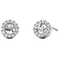 Michael Kors Logo Sterling Silver Stud Earrings.