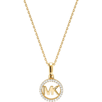 shop for Michael Kors Custom Kors 14ct Gold Plated Charm Necklace at Shopo