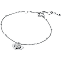 shop for Michael Kors Love Sterling Silver Heart Duo Bracelet at Shopo