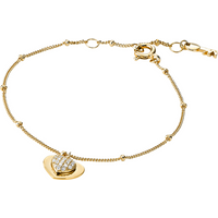 shop for Michael Kors Love 14ct Gold Plated Heart Duo Bracelet at Shopo