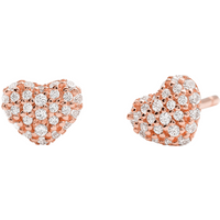 shop for Michael Kors Pave 14ct Rose Gold Plated Heart Stud Earrings at Shopo