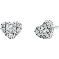 shop for Michael Kors Pave Sterling Silver Heart Stud Earrings at Shopo