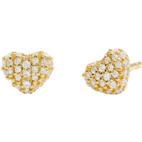 Michael Kors Pave 14ct Gold Plated Heart Stud Earrings.