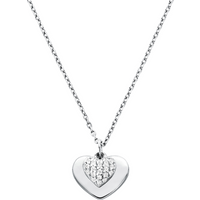 shop for Michael Kors Love Sterling Silver Heart Duo Pendant at Shopo