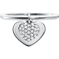 shop for Michael Kors Love Sterling Silver Heart Duo Ring Size O at Shopo