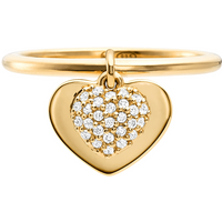 shop for Michael Kors Love 14ct Gold Plated Heart Duo Ring Size O at Shopo