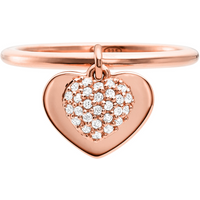 shop for Michael Kors Love 14ct Rose Gold Plated Heart Duo Ring Size L.5 at Shopo