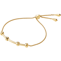 shop for Michael Kors Custom Kors 14ct Gold Plated Starter Slider Bracelet at Shopo