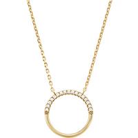 shop for Michael Kors Custom Kors 14ct Gold Plated Start Ring Necklace at Shopo