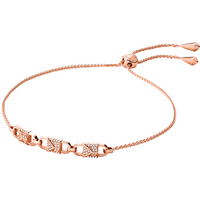 shop for Michael Kors Mercer Link 14ct Rose Gold Plated Slider Bracelet at Shopo