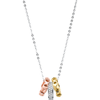 shop for Michael Kors Mercer Link Tri-Tone Necklace at Shopo