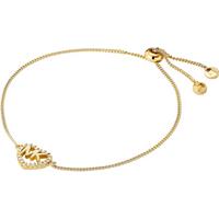 Michael Kors Love Yellow Gold Tone Cubic Zirconia Bracelet
