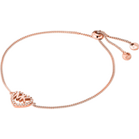 shop for Michael Kors Love Rose Gold Tone Cubic Zirconia Bracelet at Shopo