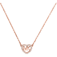 shop for Michael Kors Love Rose Gold Tone Cubic Zirconia Necklace at Shopo