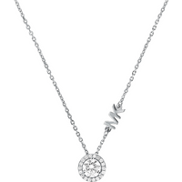 shop for Michael Kors Custom Silver Cubic Zirconia Necklace at Shopo