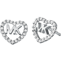 shop for Michael Kors Love Silver Cubic Zirconia Earrings at Shopo