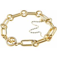 shop for Michael Kors Custom Kors 14ct Gold Plated Charm Bracelet at Shopo