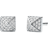 shop for Michael Kors Sterling Silver Pyramid Stud Earrings at Shopo