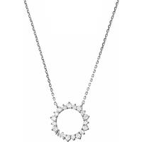 shop for Michael Kors Sterling Silver Circle Pendant at Shopo