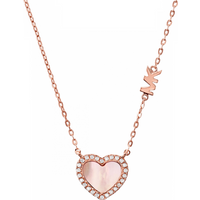 shop for Michael Kors 14ct Rose Gold Plated Heart Pendant at Shopo