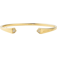 shop for Michael Kors 14ct Yellow Gold Plated Pyramid Open Bangle at Shopo