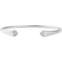 shop for Michael Kors Sterling Silver Pyramid Open Bangle at Shopo