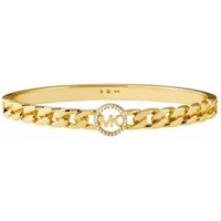 shop for Michael Kors Yellow Gold Plated Statement Link Bracelet at Shopo