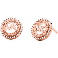 shop for Michael Kors Logo Rose Gold Coloured Stud Earrings at Shopo