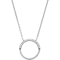 shop for Michael Kors Custom Kors Sterling Silver Circle Necklace at Shopo