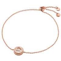 shop for Michael Kors Logo Rose Gold Coloured Bracelet at Shopo