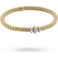 shop for FOPE 18ct Yellow Gold Solo Flex'It 0.17ct Diamond Bracelet at Shopo