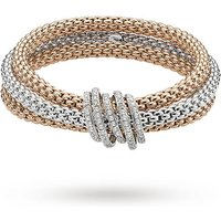 FOPE 18ct Three Colour Solo Mialuce Flex'It 1.20ct Diamond Bracelet